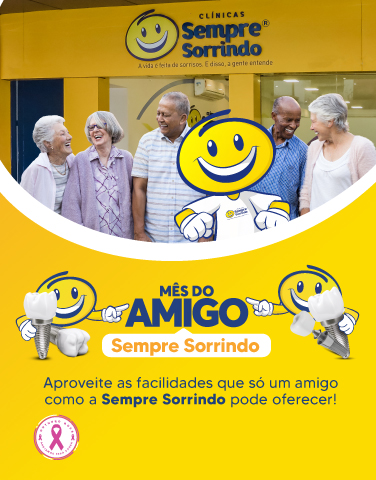 Banner Mês do Amigo - Sempre Sorrindo