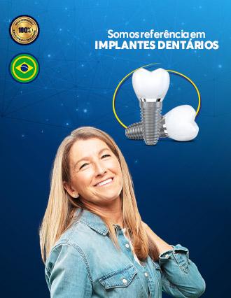 Somos referência em Implantes Dentários